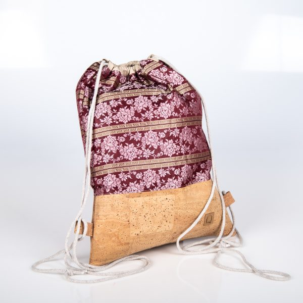 Praktischer und eleganter Begleiter in Pink/Natur für viele Festivitäten Seitenansicht